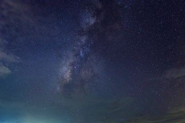 Milky Way in the sky in Thailand.