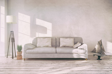 Couch in living room photos royalty free images graphics for Skandinavisches sofa