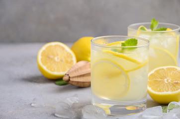 Lemon drop cocktail, selective focus, copy space