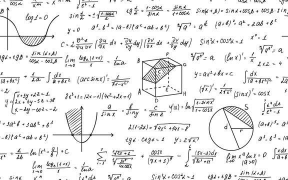 Math seamless pattern