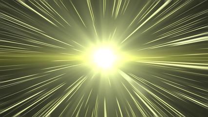 Warm Light Beam Hyperspace Travel