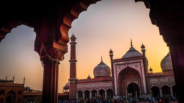 Jama Masjid Mosque in Old Delhi India