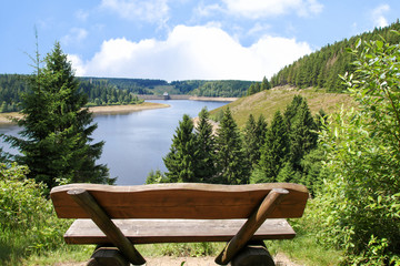 Nationalpark Harz, Eckerstausee, Germany