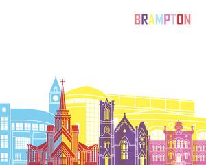 Fototapete - Brampton skyline pop