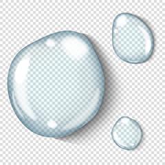Vector realistic transparent water drop