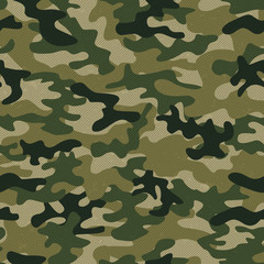 Military camo seamless pattern. Vector background for your design.