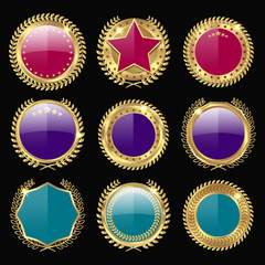 Colorful Medal Awards Icon Set