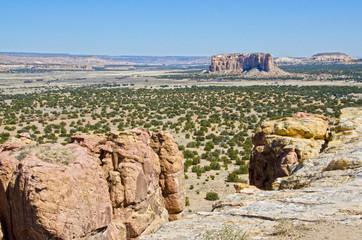 Sandstone Mesa and Desert Landscape