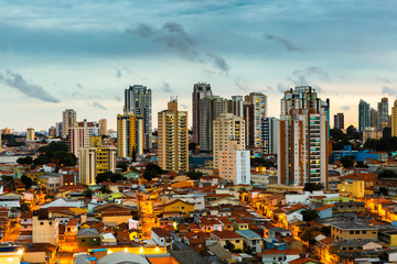 Sunset over Sao Paulo city, Brazil