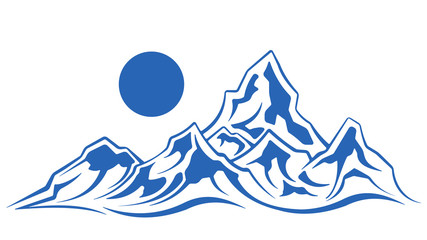 Simple mountain silhouette