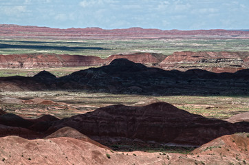 Clouds Change the Landscape at Petrified Forest National Park