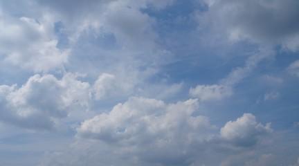 Himmel mit Wolken von unten