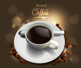 Coffee advertising design