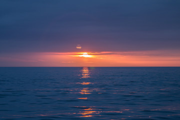 Ustka polskie morze złota godzina