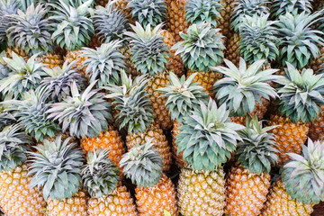 ripe yellow pineapple