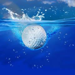 Golf ball splash.