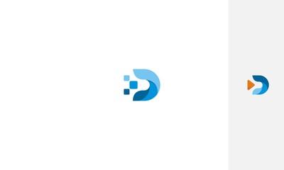 d Internet symbol icon vector logo