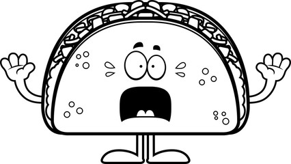 Scared Cartoon Taco