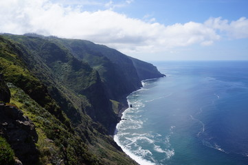 The shores of Madeira island, part of Portugal.