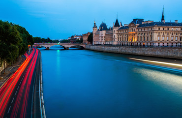 Conciergerie by night, Paris, France. Nice view of the Parisian sights