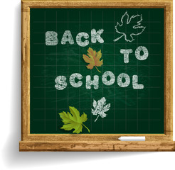 School Blackboard with expression Back to School .
