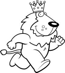 King Lion Running