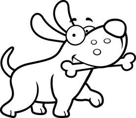 Cartoon Dog Bone