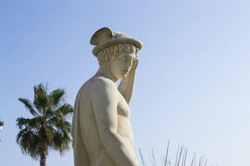Sitges Statue Laterne Palme