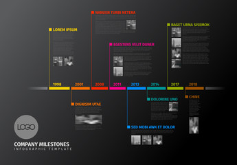 Colorful Linear Timeline Infographic Layout