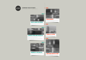Image Grid Vertical Timeline Infographic Layout
