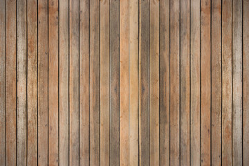 Wooden wall on white