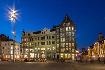 Keuken foto achterwand Brussel Dam Square in Amsterdam at the Night..