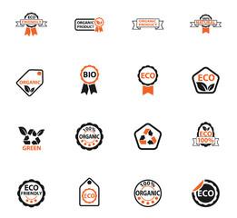 eco label icon set