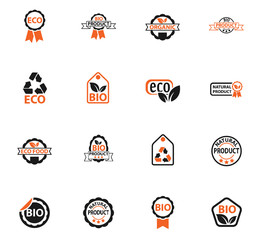 eco label icon set