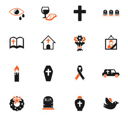 funeral services icon set