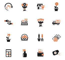 flower shop icon set