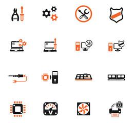 computer repair icon set