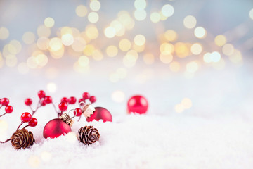 Natural Christmas Bokeh Background