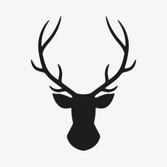 Deer head. Vector.
