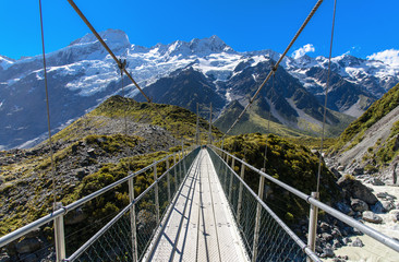 Swinging Bridge, Mt. Cook National Park