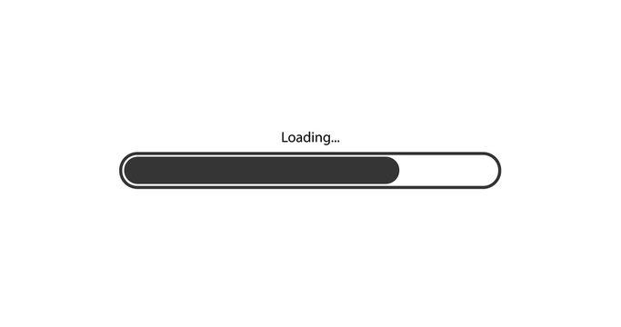 vector modern black loading bar on white background