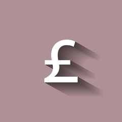 Vector image of a pound sign.  Vector illustration with shadow design