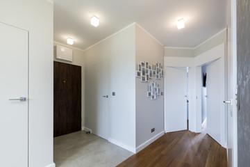 Modern corridor in white style