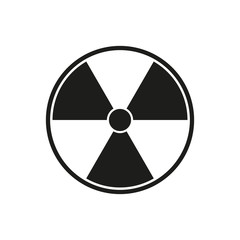 Radioactive sign. Vector.