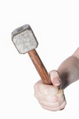 Hammer in Faust Freisteller