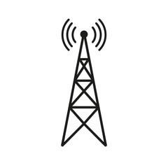 Radio tower icon. Vector.