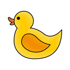 rubber duck toy icon vector illustration design