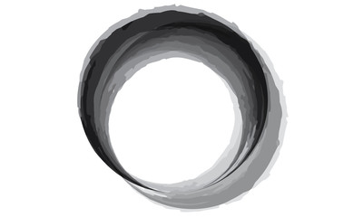 Black circle painted