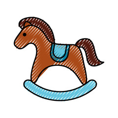 horse wooden isolated icon vector illustration design