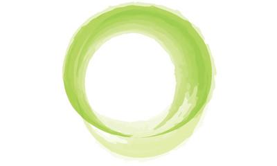 Line green circle watercolor